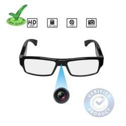 1080p FHD Ultra Slim Invisible Lens Goggles Hidden Spy Camera