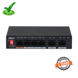 Dahua DH-PFS3006-4ET-60 6-Port 10/100Mbps Switch with 4 Poe Port